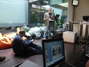 Walter Bender pendant la conférence