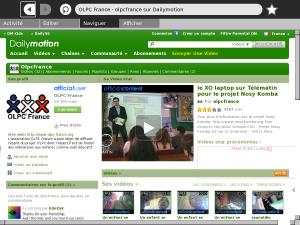 Dailymotion sur le XO 1.5