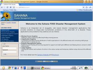 Le système Sahana sur le XO