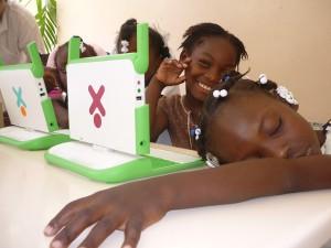 Les élèves de l'école République du Chili, Port-au-Prince 2008