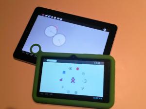 Sugarizer sur une tablet Android et sur la XO Tablet