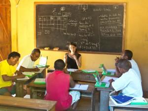Scéance de travail avec les profs